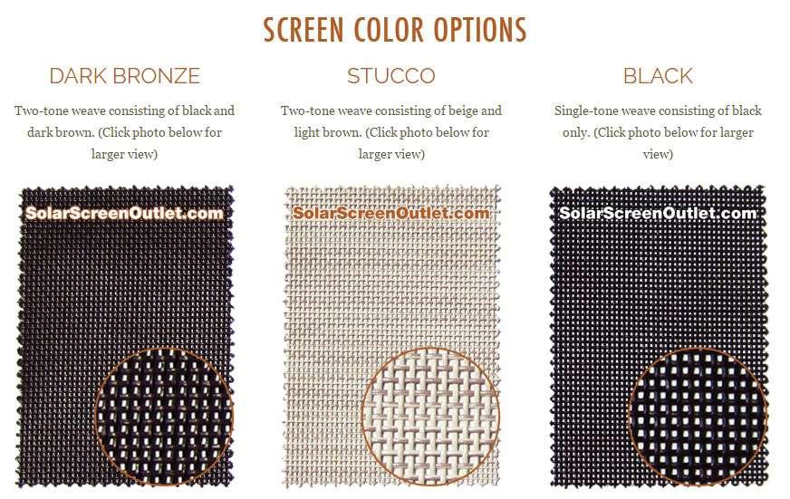 Custom Solar Screens Shipped Free