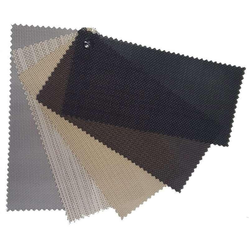 solar screen fabric samples