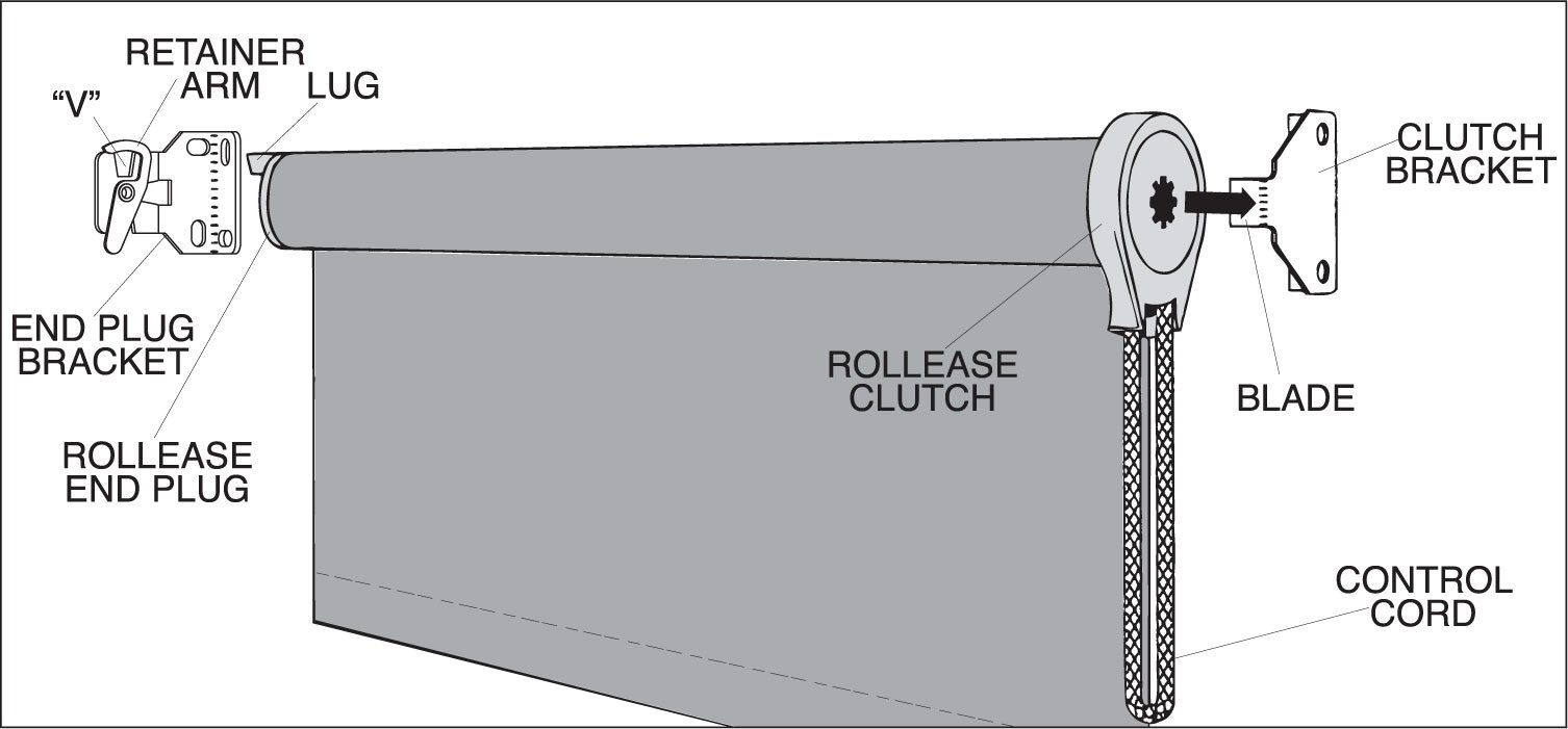 Roll Up Solar Shade Install Diagram