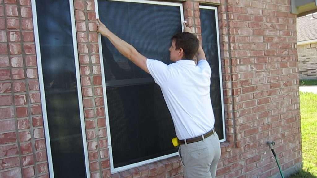 solar screen brick clips installation
