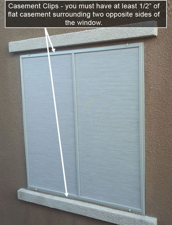 install solar screen with casement clips