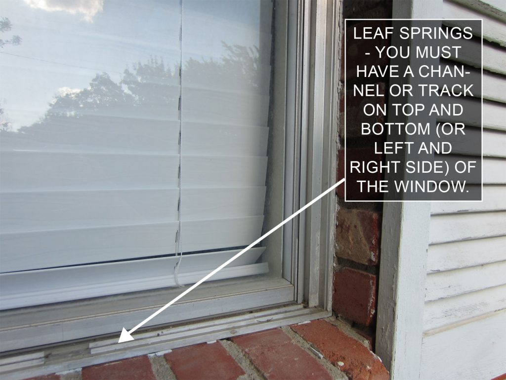 How to Install and Measure Solar Screens with Leaf Springs