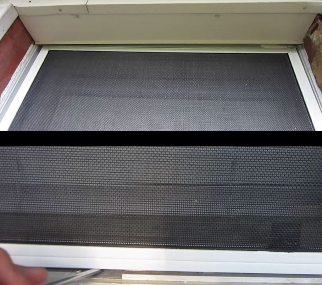 install solar screens with leaf springs