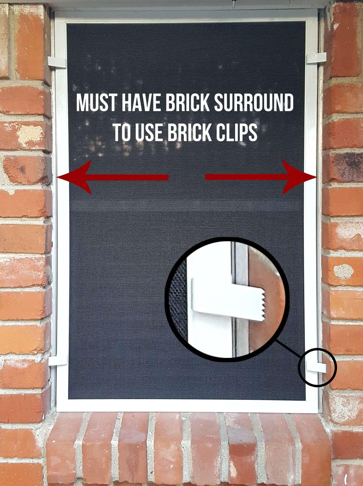 using brick clips