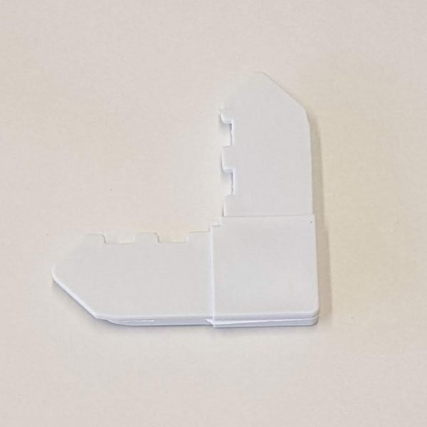plastic corner - white