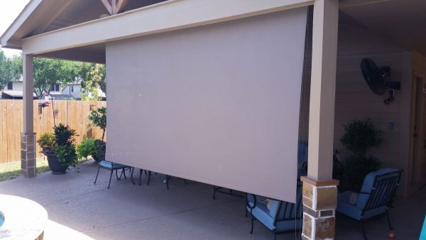 roll up solar shade exterior