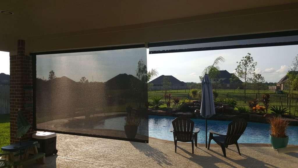 roll up solar shade exterior
