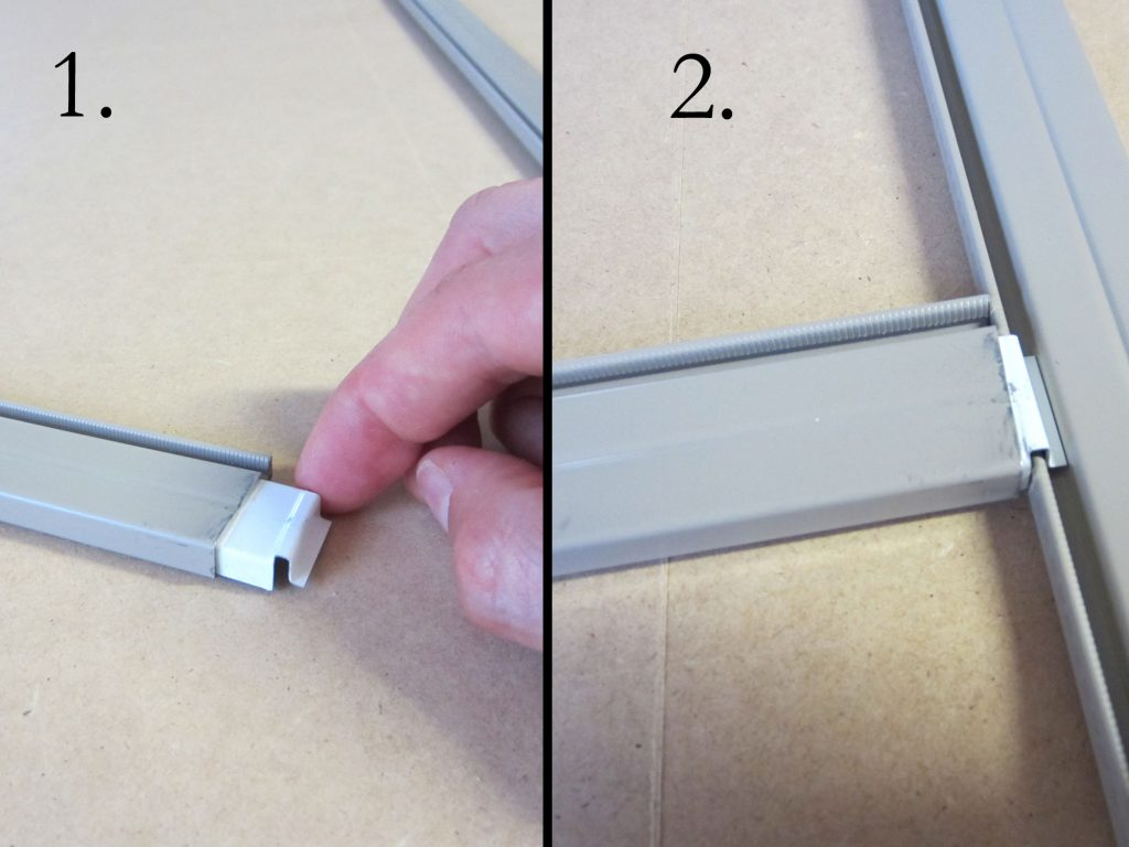 Solar Screen Assembly with crossbar