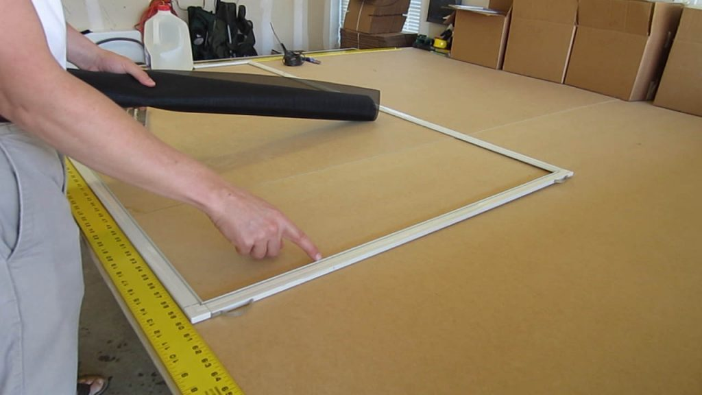 Solar Screen Assembly prep for screen
