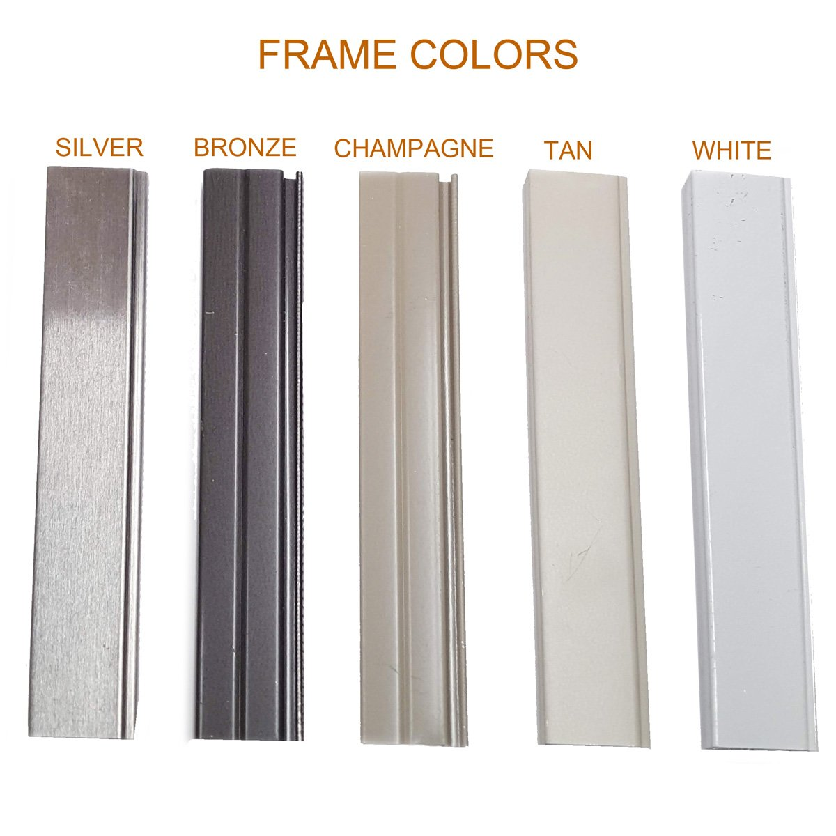 solar screen frame colors