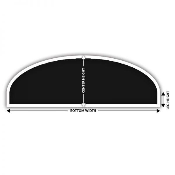 eyebrow arch solar screen how to measure