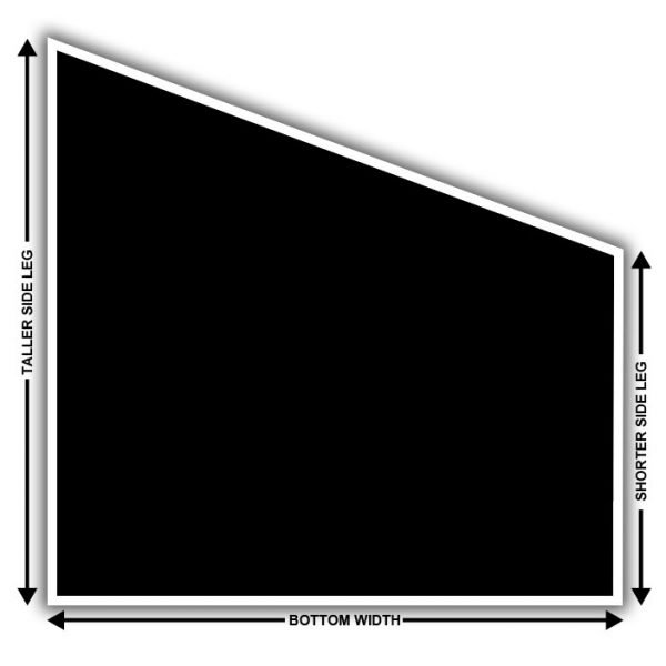 angled solar screen how to measure